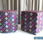 Square and barrel ottomans