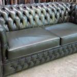 Refurbished Chesterfield Sofa In quality Alitalia Leather