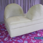2 seater ottoman with back for a shoe shop