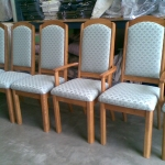 Set of casual chairs restored with a Warwick fabric
