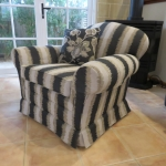 Reupolstered furniture in matching Warwich fabric 3