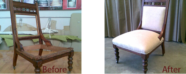 Before and after refurbishment and restoration