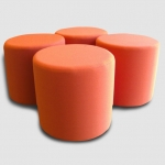 Barrel ottomans for retail or residential application