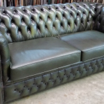 Refurbished Chesterfield Sofa In quality Alitalia Leather