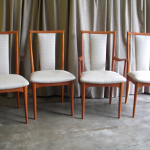 Parker Dining chairs restored in a Warwick fabric