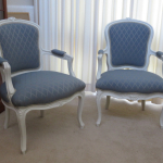 Louis style chairs we reupholstered
