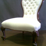 Diamond buttoned Louie chair from the early 19th century