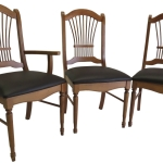 Reupolstered dining chairs