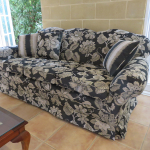 Reupolstered furniture in matching Warwich fabric 1
